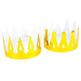 Fun Express, Foil Crown, Cardboard, Gold, 4 x 26 inches, 1 Piece