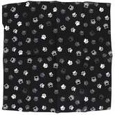 Paw Print Pet Bandana, Cotton, Black, 22 x 22 Inches, 1 Piece