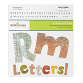 Renewing Minds, Weathered Wood Bulletin Board Letters, Upper and Lowercase, 4 Inches, Assorted Colors, 220 Pieces