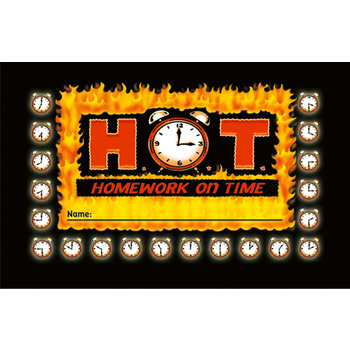North Star Teacher Resources, Homework on Time (H.O.T.) Punch Cards, 4 x 2.5 Inches, Pack of 36