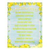 Teacher Created Resources, Lemon Zest Classroom Rules Chart, 17 x 22 Inches