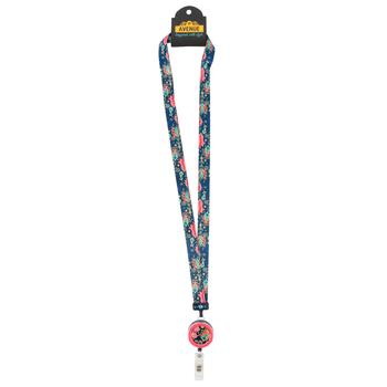 ID Avenue, 3-in-1 Tapestry Ribbon Lanyard with ID Badge Reel, Multi-Colored, 38 Inches, 1 Piece