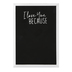 I Love You Because Chalkboard Wall Art, MDF, Black and White, 7 x 5 inches