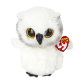 Ty, Beanie Boos, Austin the Owl Stuffed Animal, White, 6 inches
