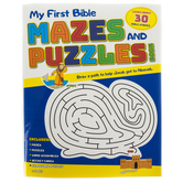 My First Bible Mazes and Puzzles Book, Paperback, 48 Pages, Ages 5 and up