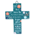 Faithworks, Assorted Mini Scripture Cross, Wood, Floral Pattern, 4 inches