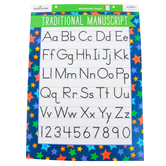 Renewing Minds, Traditional Manuscript Alphabet Chart, Stars, 17 x 22 Inches, 1 Each