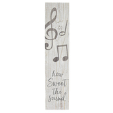 P. Graham Dunn, How Sweet Sound Music Tabletop Block Sign, Wood, 1 1/2 x 7 1/4 inches