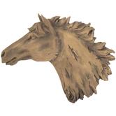 Horse Head Wall Decor, Resin, Brown, 15 x 19 1/2 x 2 inches