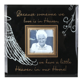 Dexsa, Because Someone We Love Photo Frame, Holds 4 x 4 inch Photo, Glass, 12 x 12 inches