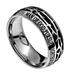 Spirit & Truth, Crown of Thorns, Man of God , 1 Timothy 6:11, Men's Ring, Stainless Steel