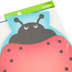 Renewing Minds, Ladybug Shaped Notepad, 6-1/4 x 8 Inches, Red, Black, & Blue, 50 Sheets
