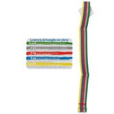 CTA, Gospel Story by Colors Cloth Bracelet and Card (Spanish), Multi-Colored, 9 Inches