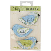 Imagine Designs, Family Faith Friends Chirp Magnets, Blue & Green, 1 Each of 3 Designs