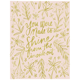 Shine From The Inside Out Wall Decor, Canvas, Pink and Gold, 24 x 18 x 1 1/2 inches