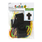 Playside Creations, Scratch Art Cross Kit, 3 1/4 x 4 1/2 Inches, Black, Pack of 24, Ages 5 and up