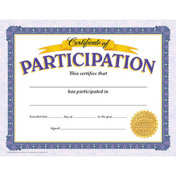 TREND, Certificate of Participation, 11 x 8.5 Inches, Pack of 30