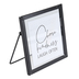 Choose Kindness Laugh Often Tabletop Décor, Glass, Paper, Metal, Black and White, 4 x 4 inches