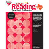 Newmark Learning, STAAR Reading Warm-Up and Test Practice: Grade 4, Paperback, 144 Pages