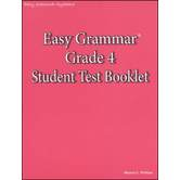 Easy Grammar Grade 4 Student Test Booklet