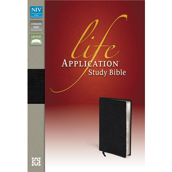 NIV Life Application Study Bible, Bonded Leather, Black