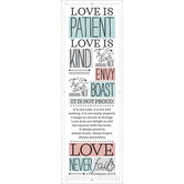 Salt & Light, Love Is Patient Love Is Kind Bookmarks, 2 x 6 inches, 25 Bookmarks
