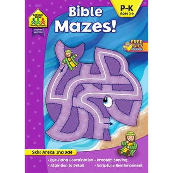 School Zone, Bible Mazes, by Linda Standke and Julie Anderson, Paperback