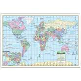 Kappa Map Group, World Political Rolled Map Paper, 40 x 28 Inches, Multi-Colored, 1 Piece