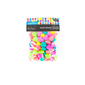 Tree House Studio, Heart Shaped Plastic Beads, 15 x 17mm, Assorted Neon Colors, 80 count