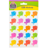 Teacher Created Resources, Colorful Fish Shaped Stickers, Multi-Colored, Pack of 120