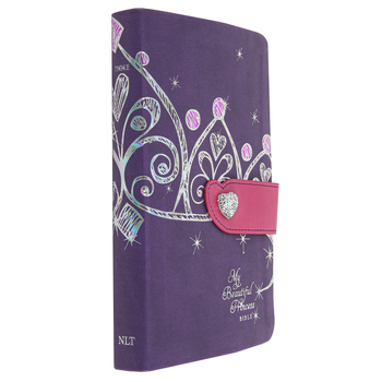 NLT My Beautiful Princess Bible Purple, Duo-Tone, Purple Crown with Pink