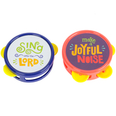 Playside Creations, Mini Religious Tambourines, 2 x 2.70 Inches, Assorted 6 Pack