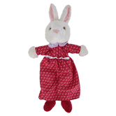 The Puppet Company, Mrs. Rabbit Dress Animal Puppet, White & Red, 10 inches