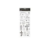 the Paper Studio, Inspirational Christian Phrases Stickers, Clear, 27 pieces