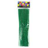 Tree House Studio, Chenille Stems, 12 x 1/4 Inches, Green. 50 Count