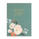 DaySpring, Studio 71, 2 Corinthians 4:16 Not A Day Goes By 16-Month 2021 Planner, Sage Green, 8 x 6 Inches
