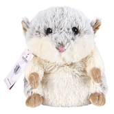 Warmies Cozy Plush Hamster, Microwavable, Lavender Scent, White, 13 inches