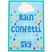 Schoolgirl Style, Rain Is Confetti In The Sky Motivational Poster, 13.38 x 19 Inches, 1 Piece