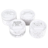 Playside Creations, Color Me Prayer Boxes, 3 x 2 Inches, Pack of 4