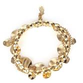 His Truly, Beaded Bracelet Set, Zinc Alloy, Shiny Gold, 3 Pieces