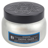 Darsee & David's, Exotic Oasis Candle Tin, Silver & Black, 3.98 Ounces