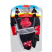 Melissa & Doug, Ninja Costume Set, Ages 3 to 6 Years Old, 4 Pieces