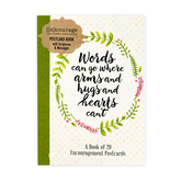 DaySpring, (in)courage Words of Encouragement Postcard Book, 20 cards, 4 1/4 x 6 inches