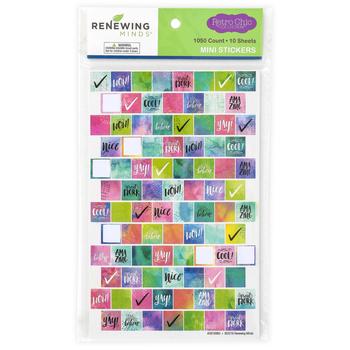 Retro Chic Collection, Mini Incentive Stickers, Multi-Colored, Pack of 900