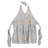 Kay Dee Designs, Sweet Home Hostess Apron, Cotton, Gray and Yellow, Adult Size