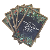 Renewing Faith, The Real Christmas Gift Gospel Tracts, 5 1/4 x 3 1/2 inches, Set of 50 Tracts