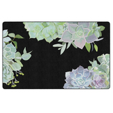 Flagship Carpets, Schoolgirl Style Simply Stylish Succulents Rug, Multi-Colored, 5-foot x 7.6 Foot