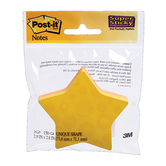 3M, Star-Shaped Post-it Notes, 2.9 x 2.8 Inches, Assorted Colors, 2 Pads, 75 Sheets Each