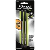 Sharpie, Permanent Pens, Fine Point, Black, Pack of 2
