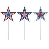 Brother Sister Design Studio, Patriotic Star Pick, Assorted Designs, 9 3/8 x 4 1/2 inches
